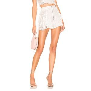 For Love & Lemons Las Palmas Lace Shorts. Size XS